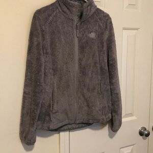 Gray North Face Fleece Jacket